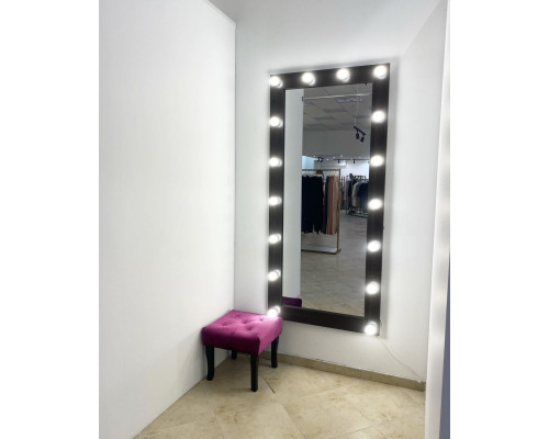 Гримерное зеркало с подсветкой 175х80 Черный