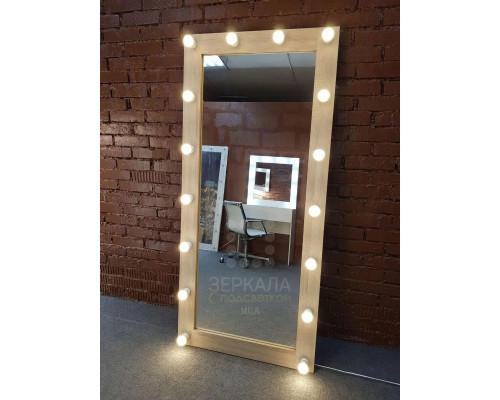 Гримерное зеркало с подсветкой 175х80 Дуб Сонома