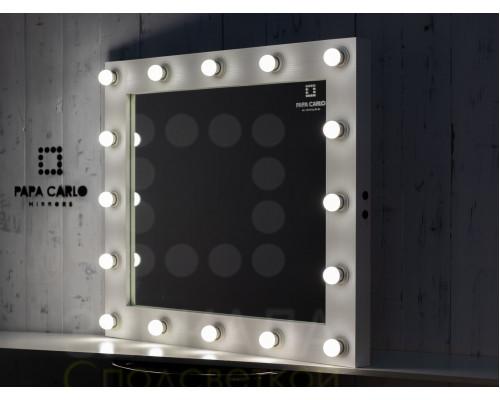 Гримерное зеркало белое с подсветкой 80х100 см 16 ламп лдсп премиум